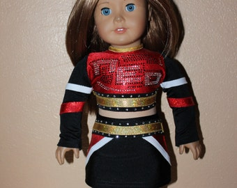 Made to order NEO cheer outfit for American Girl Doll