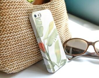 iPhone X Case Tropical iPhone 7 Case, iPhone 8 Plus, Tropical Leaf iPhone 7 Plus Case, Banana Leaves iPhone 6S SE Case Resort