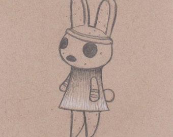 Animal Crossing Drawing - Coco. Animal Crossing Bunny Rabbit. Gyroid. Custom Animal Crossing Villager Art. Kawaii. Video Game Gift. Nintendo