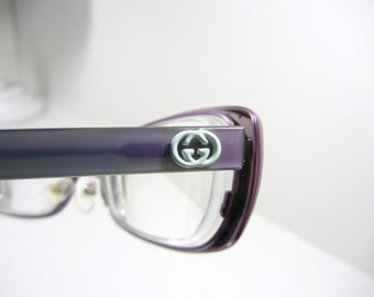 Authentic GUCCI Eyeglasses / Purple and Teal green / Made in Italy / Back to School / Eyewear / glasses / GUCCI frames / Designer
