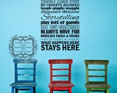 Grandparents' House Rules Wall Decal