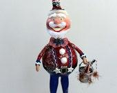 Folk Art Americana Uncle Sam Patriotic Art Doll Collectible