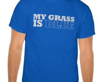 My Grass is Blue Bluegrass Festival Tshirt Tee Shirt - Assorted Colors and Sizes