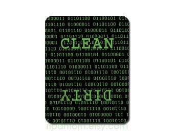 Clean Dirty Dishwasher Magnet, Binary Code - Clean, Dirty Sign - computer geek, IT technician, web developer, computer science programmer