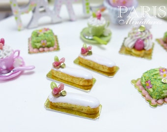 Easter French Eclair - 12th Scale Miniature Food