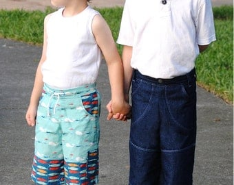 PDF Sewing Pattern: The Sand & Sidewalk Boardshorts and Skate Pants (Instant Download)