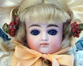 """Kestner  German  Bisque Doll  Antique Closed Mouth """"H"""""""
