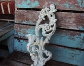 Vintage Shabby Chic Candelabra Wall Sconce Candle Holder Repurposed Distressed Chippy