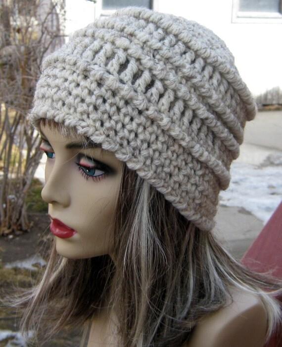 Mens Hat Crochet Pattern Chunky Yarn : CROCHET PATTERN PDF Crocheted Chunky Textured Crochet Slouchy