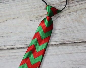 Christmas neck Tie for kids- Boys neck tie- Green and Red neck tie- Holiday outfit- Several colors to pick from- Toddler necktie-Photo Prop