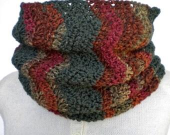 Cowl Autumn Chevron Crochet