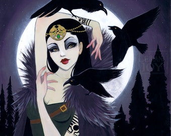 "11x14 ""The Morrigan"" Irish Goddess Girl Fine Art Print"