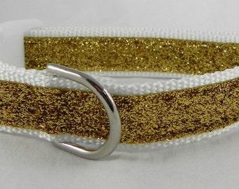 Gold Metallic Sparkle Dog Collar