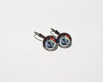 Shock Till You Drop - Zombie Bezel Clasp Earrings 12mm