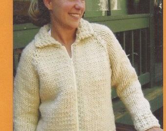 Knitting Pure & Simple Knitting Pattern 234 Weekend Neck Down Jacket for Women