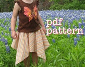 PDF Be There or Be Square Handkerchief Skirt Pattern for Babies, Toddlers, Girls Sizes 6-9m, 12-18m, 2t, 3t, 4t, 5t, 6, 7, 8, 10 & 12