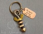 Valentine's Day Mens Keyring - Nuts about you Keychain for Him -Nuts, Bolts, Tools, Unique Husband Gift- Father's Day Gift - Gift for Dad