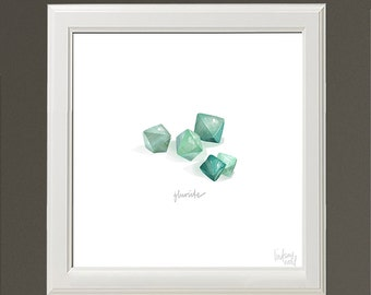 Fluorite Crystals - Archival Print by Lindsay Nohl