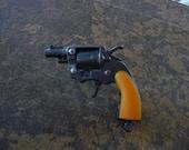ONE Vintage 1960s Toy Gun Detective 38 Special Snub Nose Pistol Charm Pendant