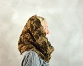 hood scarf . infinity scarf . crochet cowl . knit cowl . hooded scarf . hood cowl . chunky infinity scarf
