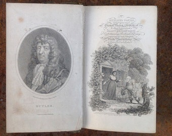 Antique book: Samuel Butler's Hudibras in an edition dating from c.1804
