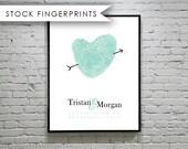 Fingerprint Custom Wedding GuestBook  - Unique Guest book Alternative Ampersand Print