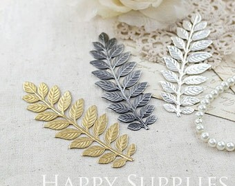 5pcs Nickel Free - High Quality LARGE Long and Leafy Branch Stamping Charms / Pendant (EBD03)