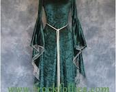 Finola, a Medieval, Pagan, Elvish, Pre-Raphaelite, Renaissance Handfasting Dress.