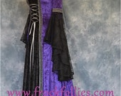 """Medieval Gown, Halloween Dress, Pagan Dress, Medieval Hand Fasting Gown, Renaissance Gown, """"Morticia"""""""