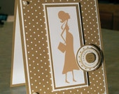 Expectant Mother Congratulations Card - Stampin Up She's All That