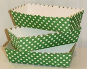 Paper Food Tray, 5 Green Dot Food Trays, Hot Dog Tray,Party, Paper Plates, Party Food Tray, Donut Box, Buffet Food Tray, Party Food Tray,