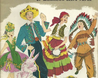 Easy to Make Colorful Costumes of Dennison Crepe Paper 1956 ON SALE