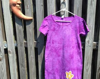 Batik Ladies Dress, Swim Cover Up, Bathing Suit Cover, Purple Batik Dress, Purple Ladies Dress, Purple Summer Dress (XL) SALE