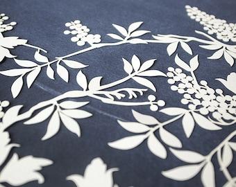 Ketubah Papercut by Jennifer Raichman - Grapevines