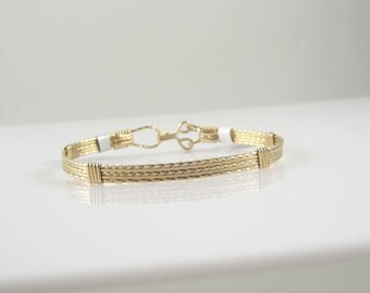 WSB-0070 14k Gold Filled Wire Wrapped  Bangle
