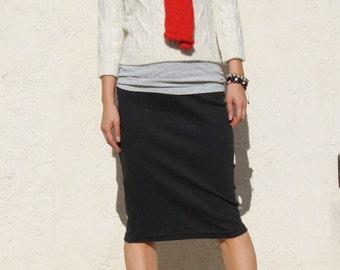 Everyday Pencil Skirt - Black