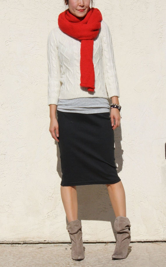 how to wear short pencil skirt casually