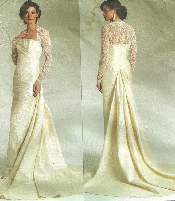 Vogue Designer Sewing Pattern by Bellville Sassoon Vogue Bridal Original 2906 Wedding Gown Dress