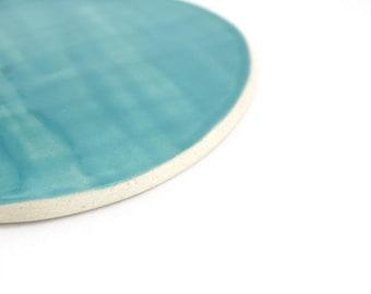 Porcelain Dinner Plate in Aqua