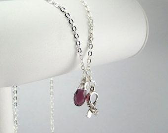 Purple Awareness Necklace