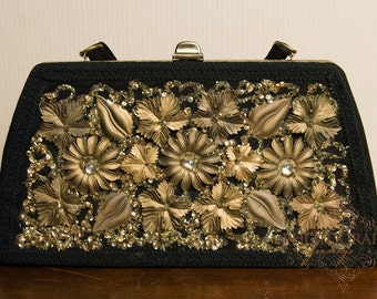 Hand Decorated Original Caron of Houston Texas Purse Clutch