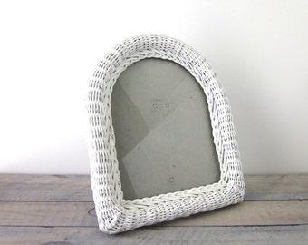 White Wicker Picture Frame