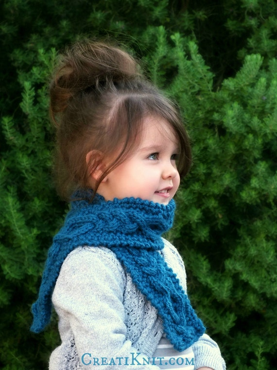 Knitting Pattern Scarf Toddler : KNITTING PATTERN The Calliope Scarf Baby Toddler by CreatiKnit