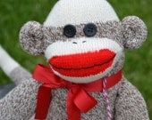 Traditional Sock Monkey Doll