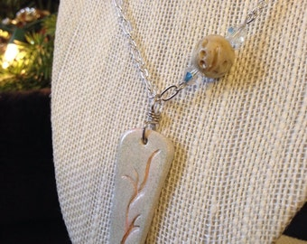 Handmade Ceramic Pendant Necklace