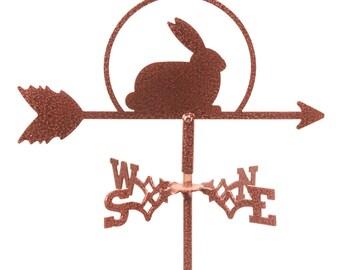 Mini Rabbit Bunny Easter Flower Pot Weathervane ~NEW~