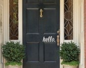 CLEARANCE 50% OFF Vinyl Wall Decal Hello - Hello Welcome Vinyl Wall Decal Quote - Front Door Vinyl Wall Decal - Hello Decal