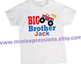 Big Brother Monster Truck Personalized shirt
