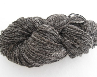 Biotayarns' handspun yarn, Dakota Grey colorway - Cormo wool, mohair,  blend - 1 skein, 230 yards - knit, weave, crochet