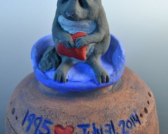 Custom Chinchilla, Rabbit, Ferret, Parrot, Hamster, Small Animal, Small Pet Urn